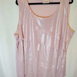 Avenue Pink layered tank top